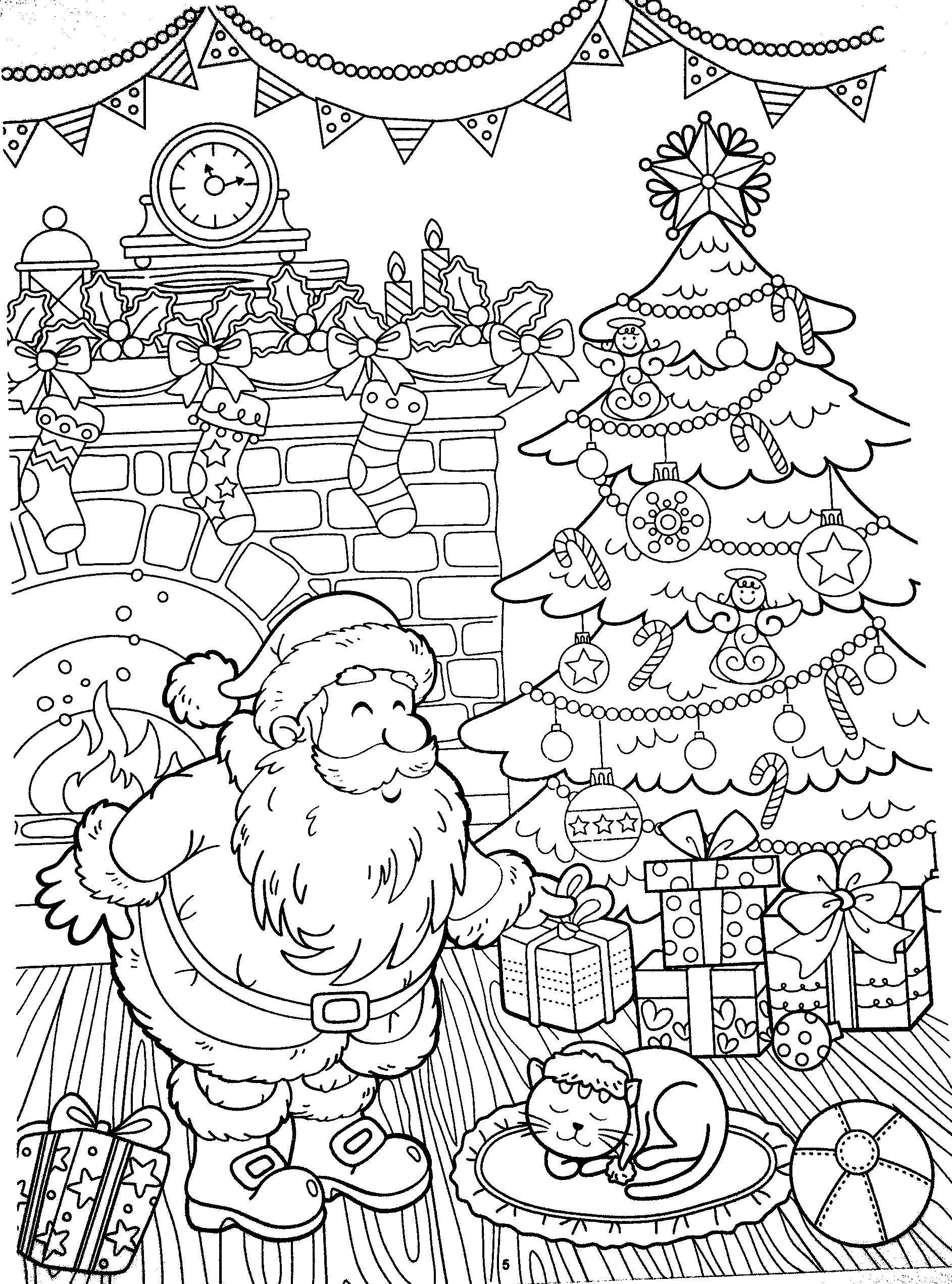 Malvorlagen Neujahr, Weihnachten Malvorlagen - раскраски НГ