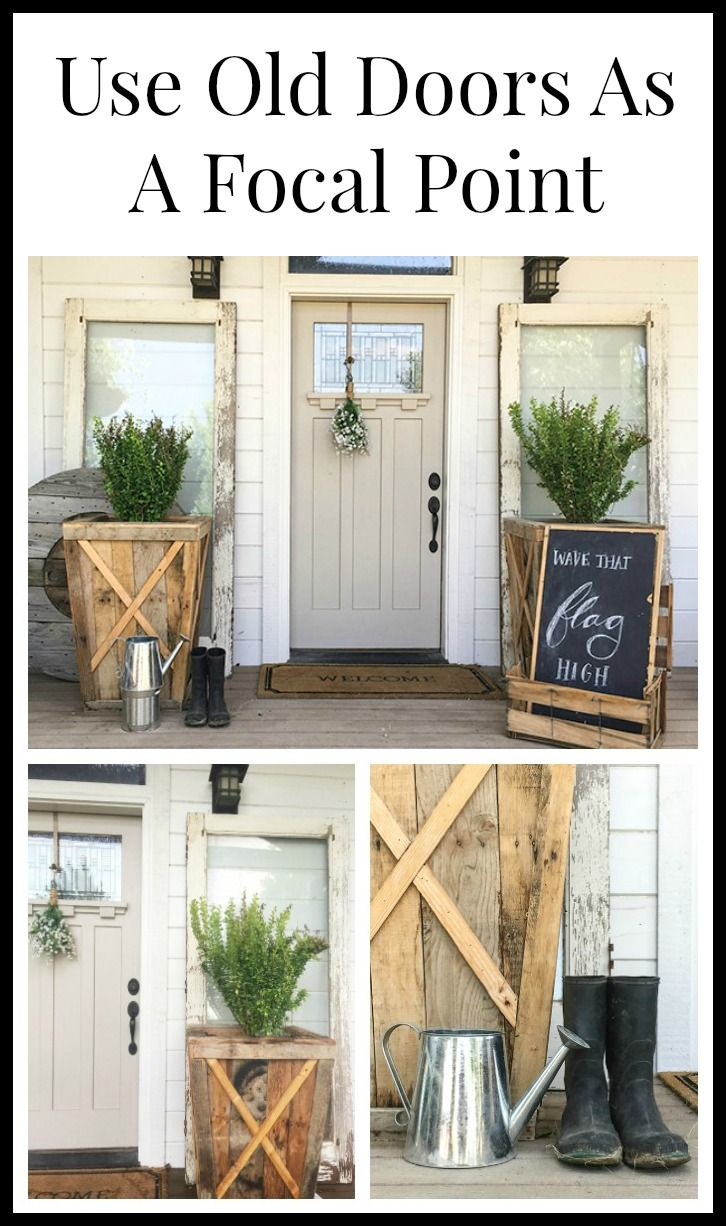 Use old doors as a focal point doors
