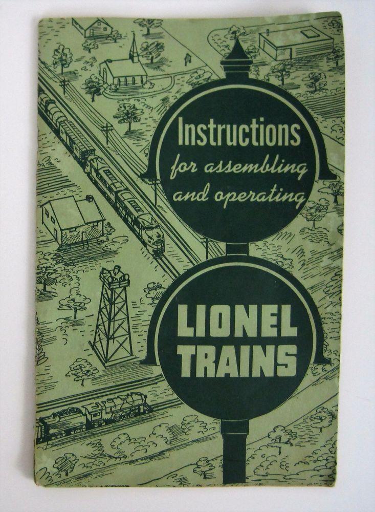 Vtg Lionel Trains Instructions Booklet No 926 51 Train Collector