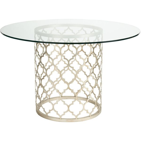 Ethan Allen Tracery Dining Table Found On Polyvore Glass Round