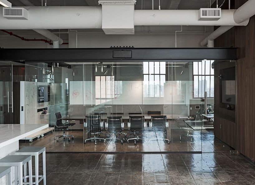 fiftythree s new york office features transparent spaces to create