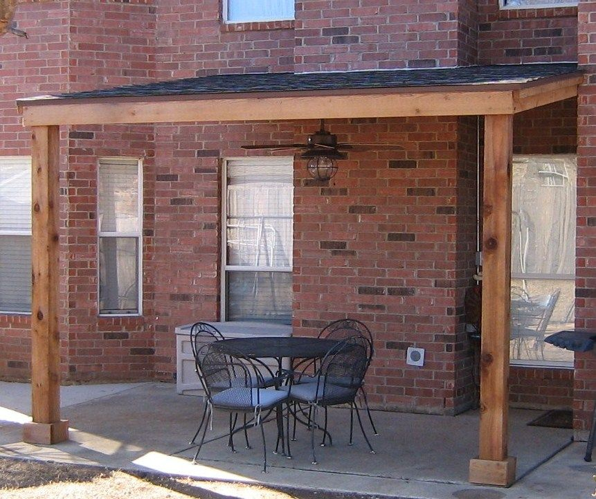 Attached Shingled Patio Cover Base Model No Trims Pergola Small Covered Patio Pergola Patio