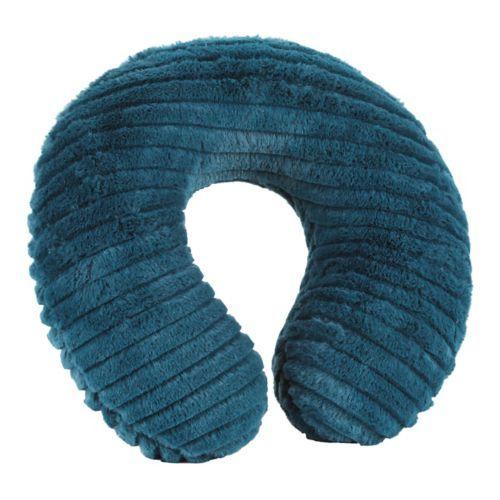 Faux Fur Teal Memory Foam Neck Pillow