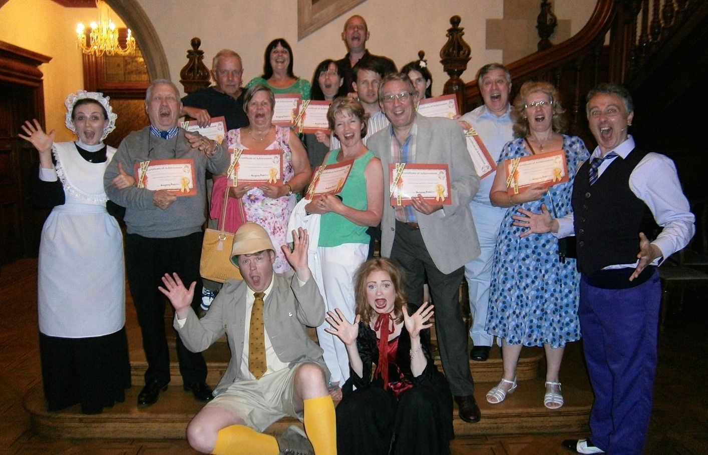 Murder Mystery at Pendley Manor Hotel with Moneypenny Productions June 2014