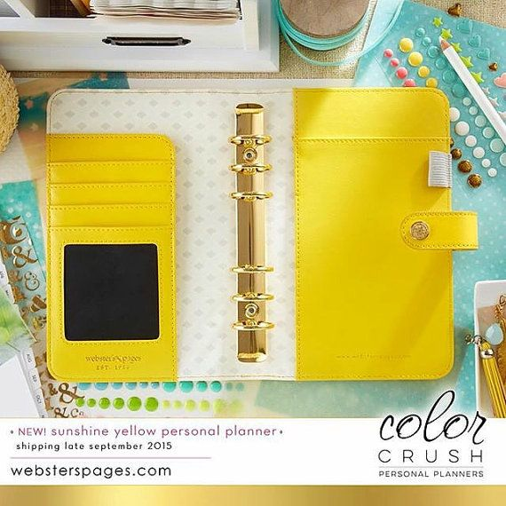 Webster's Pages Color Crush Yellow BINDER ONLY • Personal
