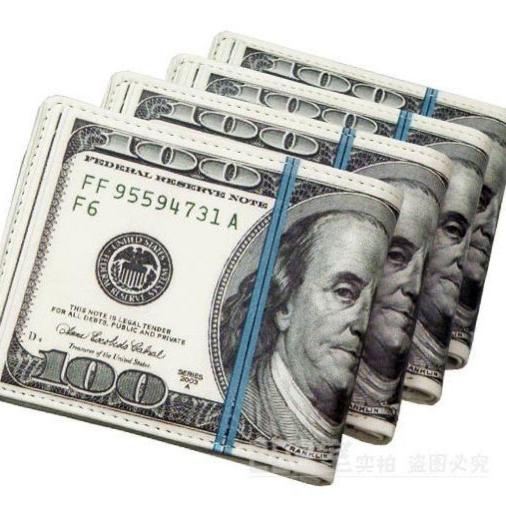 Unique 100 US Dollar Bill Design Money Man Wallet