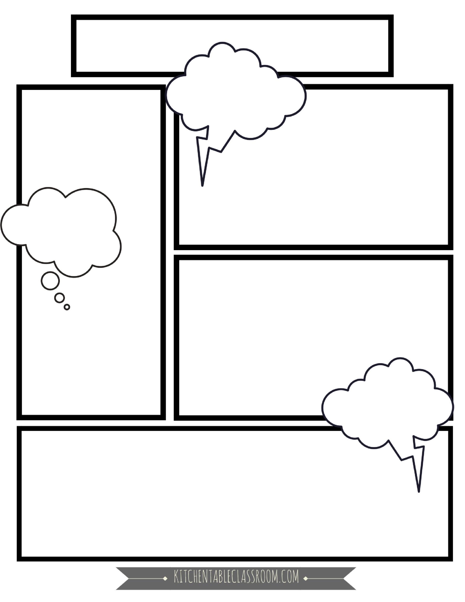 Comic Book Templates Free Printable Pages The Kitchen Table Classroom Comic Book Template Comic Template Comic Book Layout