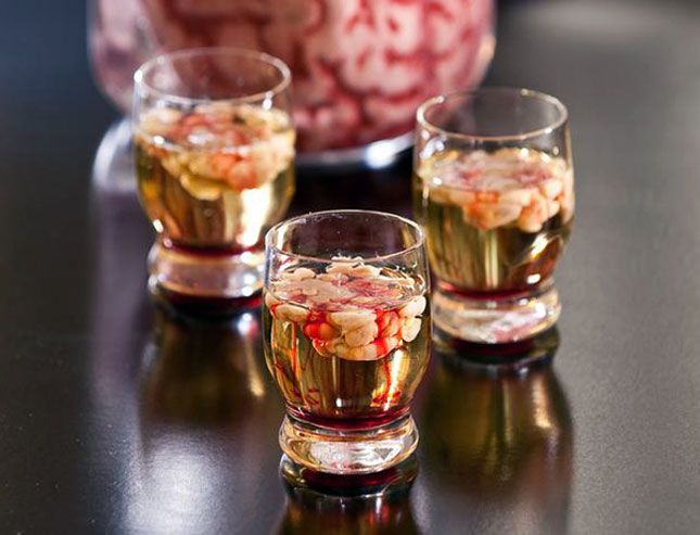 Bloody Brain Shooter—just mix Bailey's with vodka and let it curdle.