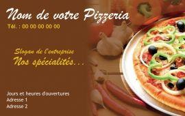 Exemple A Personnaliser Avec Modele Carte De Visite Restaurant Gratuit En Ligne Pizzeria