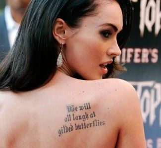 Megan Fox Megan Fox Tattoo Celebrity Tattoos Tattoo Quotes