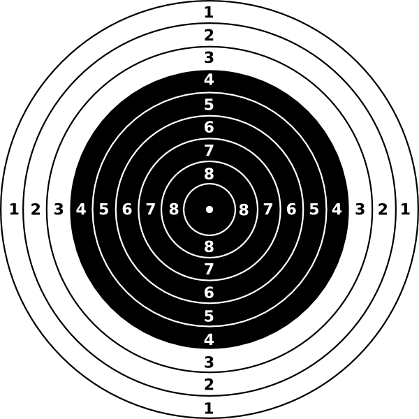 bullseye template printable - rifle shooting targets printable air rifle target clip