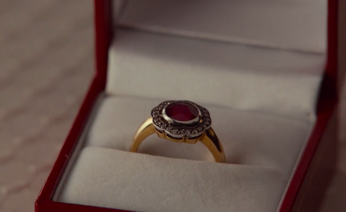 the vintage ruby ring off the film the five year engagement love