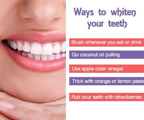 10 Poerful ways to whiten your teeth http://www.fedpolynasnews.com