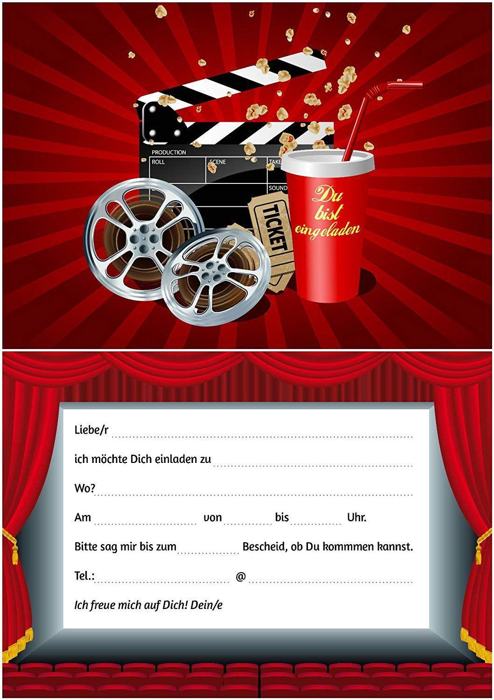 Einladung Kindergeburtstag Kino Texteinladung Kindergeburtstag Kino