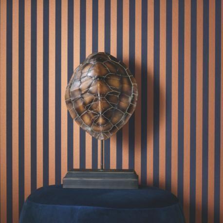 Papier peint intissé PARTITION cuivre bleu – Belle Epoque Casadeco