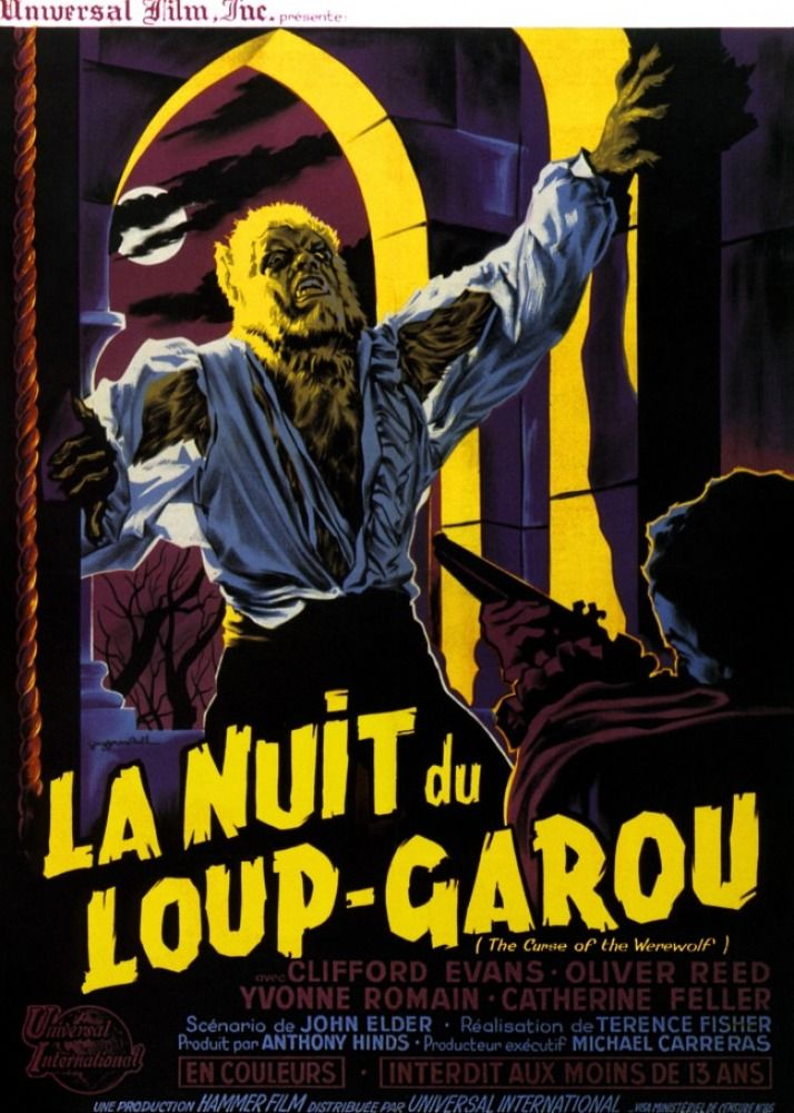 La Nuit Du Loup Garou : garou, Loup-garou, Garou,, Affiches, Films, D'horreur,, Garou