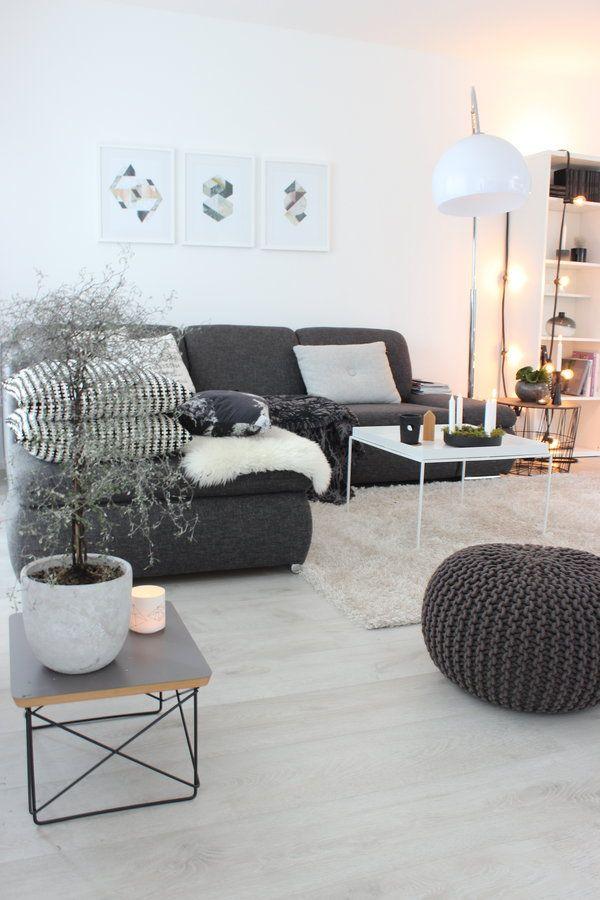 Schr g geschaut einrichtung pinterest living rooms interiors and room Wohnzimmer braunes sofa