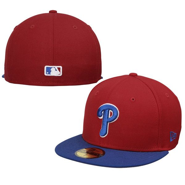 buy popular 018fa 5220c Philadelphia Phillies New Era 2-Tone Southpaw 59FIFTY Fitted Hat -  Red Royal -  34.99