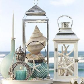 Ideas for displaying your treasures from the sea..