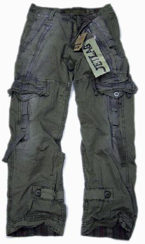 Jet Lag JetLag cargo trousers Donny olive: Amazon.co.uk