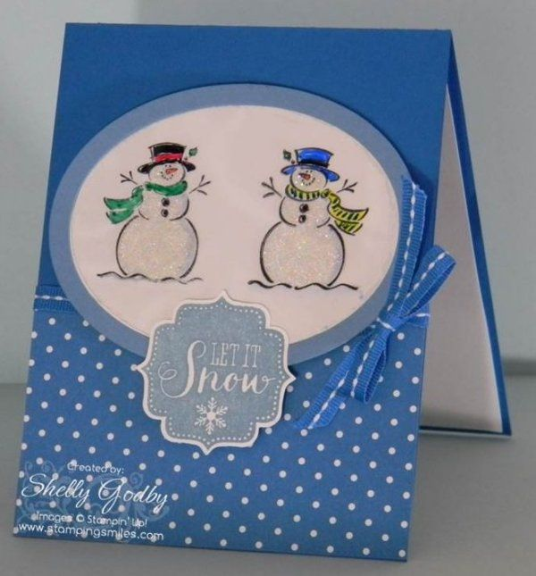 Stampinu0027 Up! Best Of Snow Card. Stamped The Frosty Stamp On Both Sides