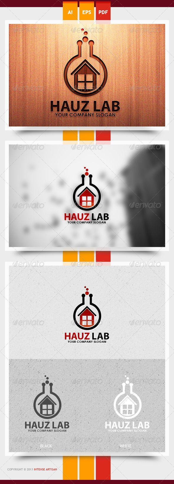 Hauz Lab Logo Design Template Vector logotype Download it