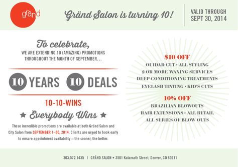 10 Year Anniversary Salon Ideas Google Search Salon Promotions Salon Stations Waxing Services