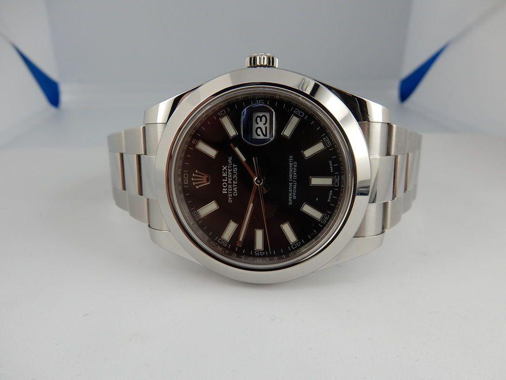 Details zu Rolex Datejust Ref.116300 Stahl Full Set 41 mm