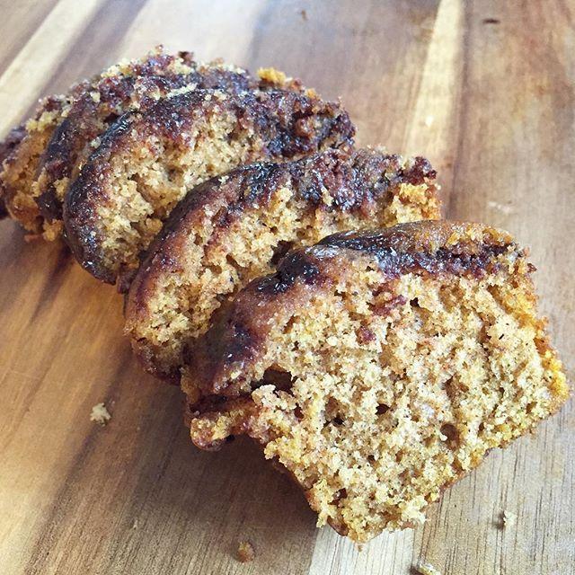 Pumpkin nutella bread - recipe on the blog. Link in profile #pumpkin #baking #fall