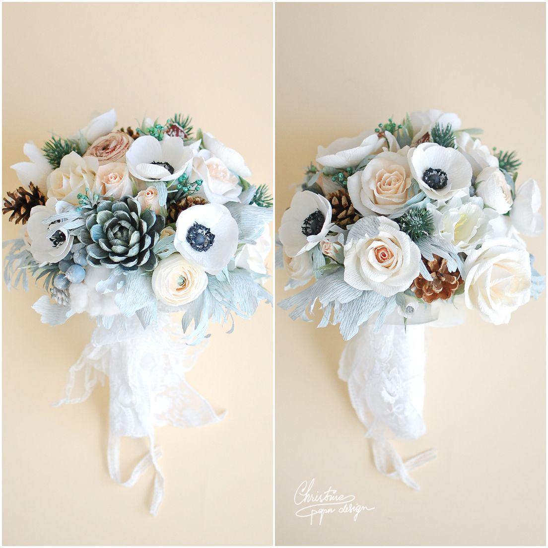 Wedding bouquets not flowers  Christine paper design  alternative wedding bouquet  Paper