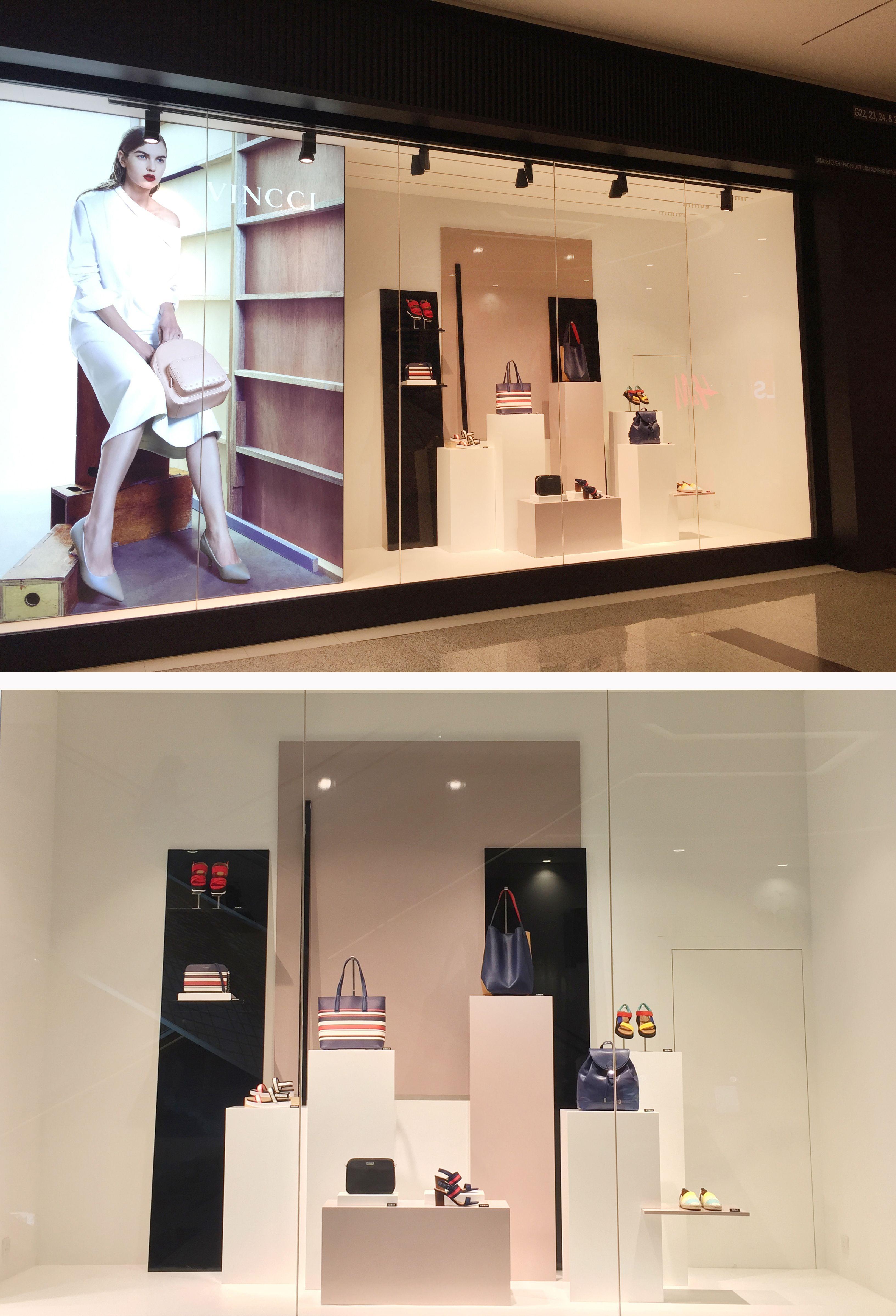 62e77254 Vincci SS2017 Window Display #VincciVM @ Sunway Velocity Mall, Kuala Lumpur.
