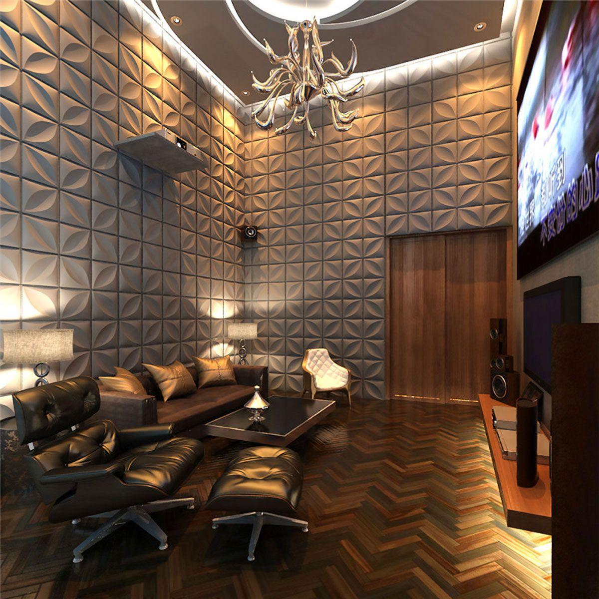 Elegant firepit with unpolished panel of oak wood using ornamental - Alexa Endurawall Decorative 3d Wall Panel White