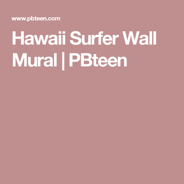 Hawaii Surfer Wall Mural PBteen Black and white beachside prints