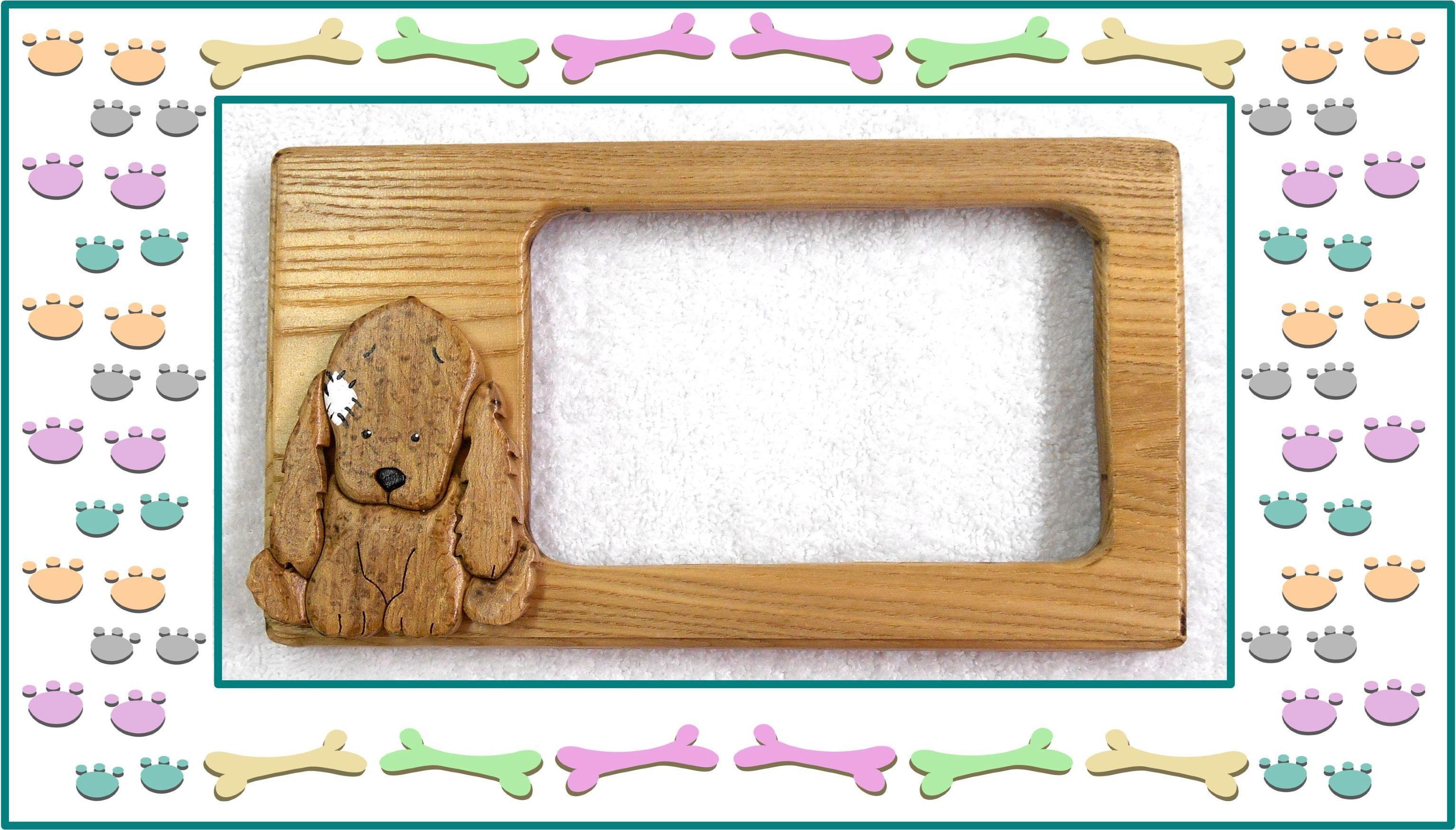 Cute little puppy frame. keoriscustomwoodworking.com