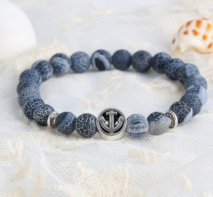 Natural beads anchor bracelets beaded bracelets