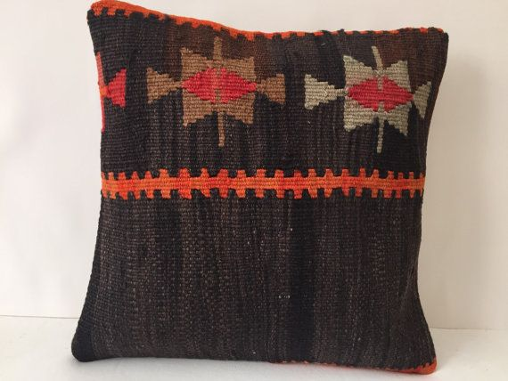 Beautiful Decorative Kilim Cushion 40x40cm (16''X16'') Kilim pillow cover