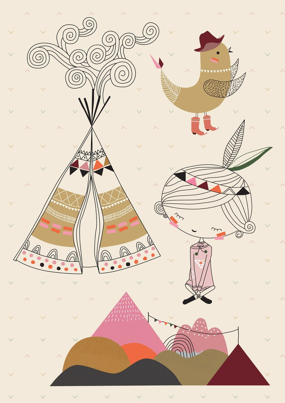 k b poisson bulle swantje frieda a3 wall sticker tipi fille her mimi s circus kids. Black Bedroom Furniture Sets. Home Design Ideas
