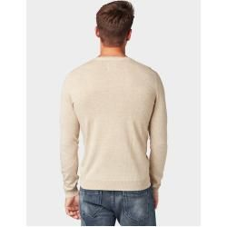 Photo of Tom Tailor Herren Strickpullover mit Henley-Kragen, beige, unifarben, Gr.M Tom TailorTom Tailor