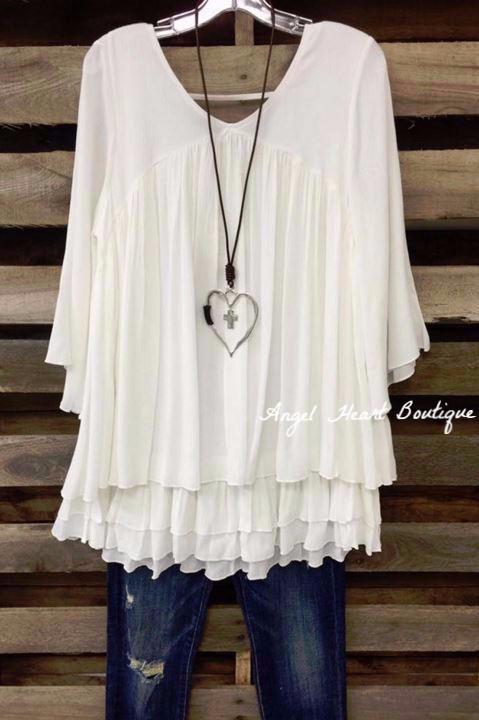 0b05eba5a3 Only Thing That Matters Tunic - Off White - Sassybling - Tunic - Angel  Heart Boutique