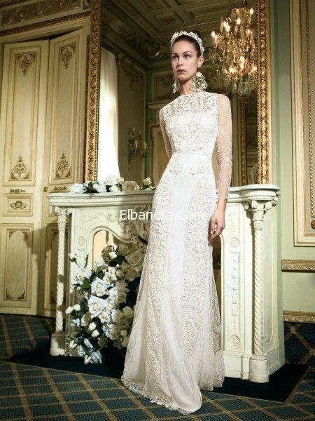 فساتين زفاف 2014 اجمل موديلات فساتين الافراح فساتين بيضاء 2014 للعرائس فساتين زفاف أ Wedding Dresses Sell My Wedding Dress Romantic Wedding Dress Elegant