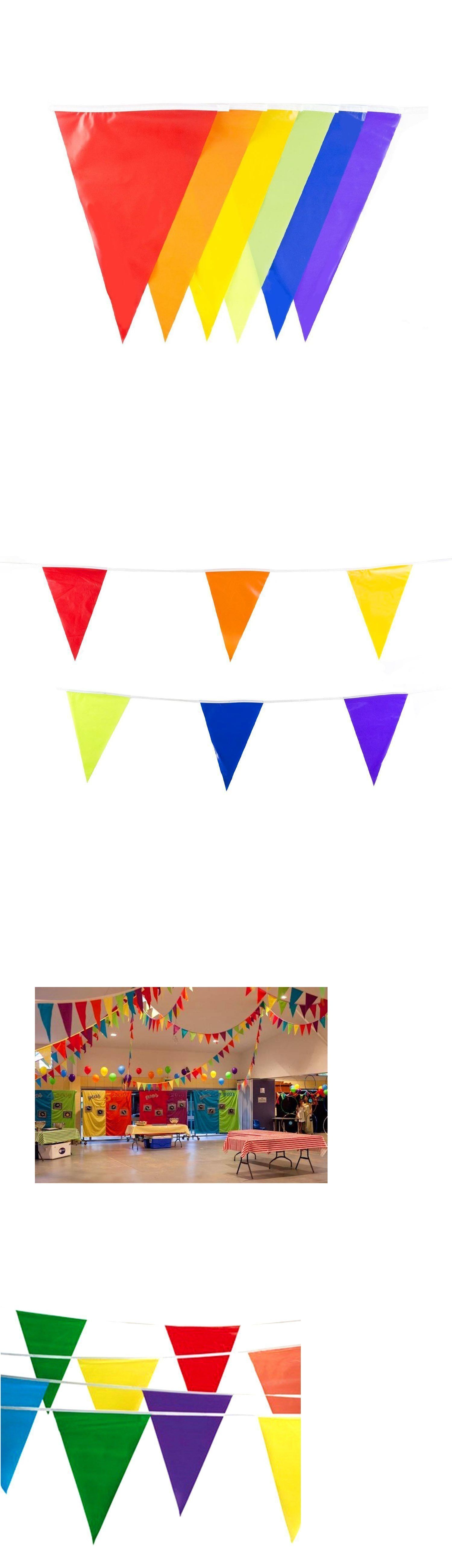 Banners bunting and garlands foot birthday party pennant