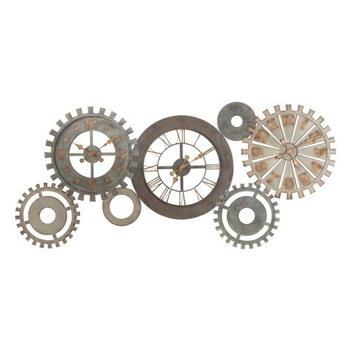 Horloges Rouages En Métal Patiné L164 Adornos Engranajes