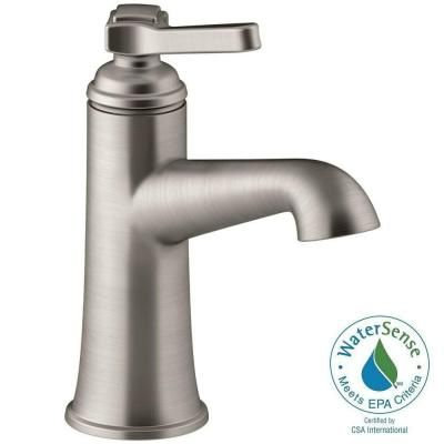 KOHLER Georgeson Single Hole Single Handle Water Saving Bathroom Faucet In  Vibrant Brushed Nickel