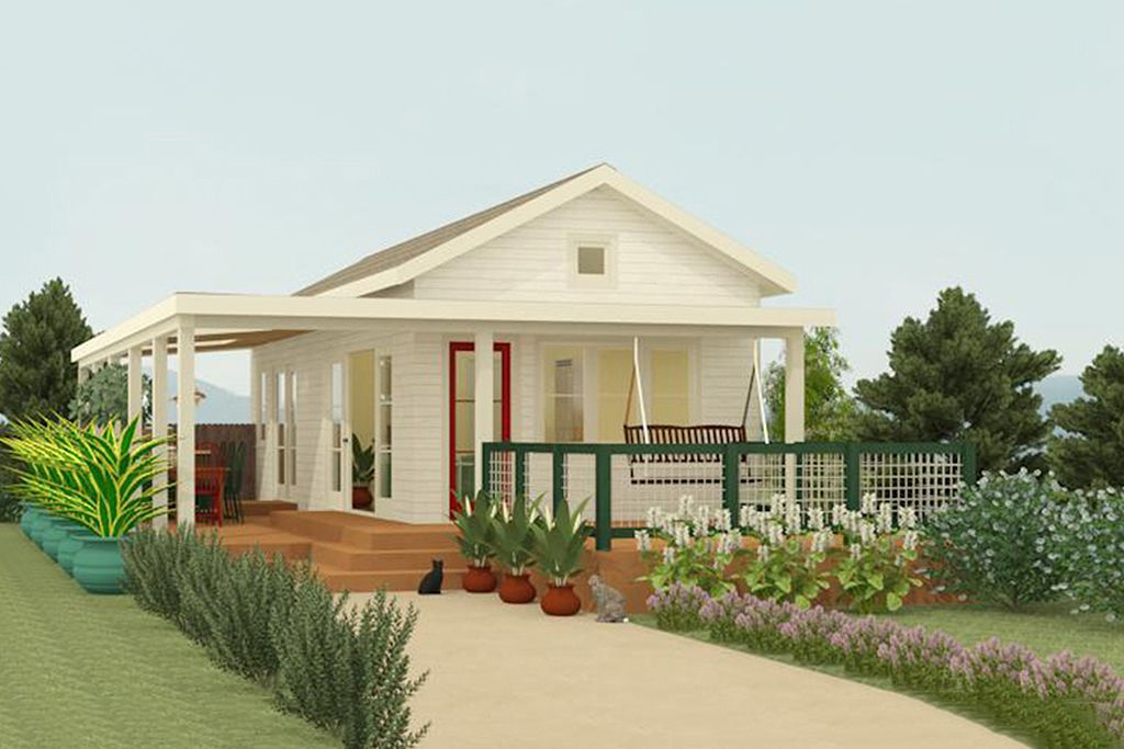 Ranch Style House Plan - 1 Beds 1 Baths 399 Sq/Ft Plan #917-4