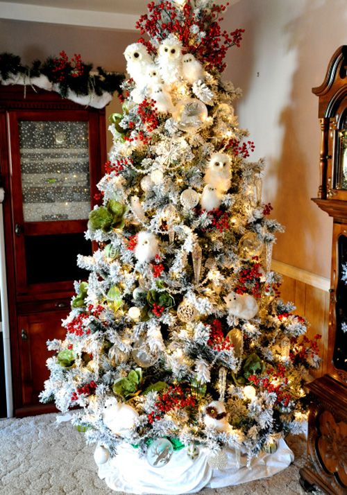 image result for christmas trees decorated with owls - Christmas Tree Decorated With Owls