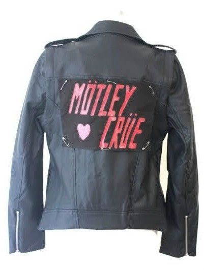 Custom Moto Jacket with Your Favorite Band Names in the Back Women Size S-L #Handmade #Motorcycle