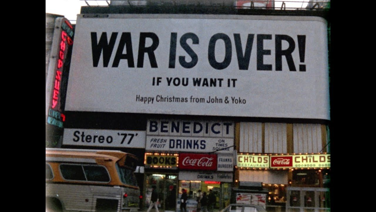 Happy Xmas War Is Over John Yoko Plastic Ono Band Harlem Community Choir Official Music Video John Lennon Happy Christmas Plastic Ono Band Protest Songs
