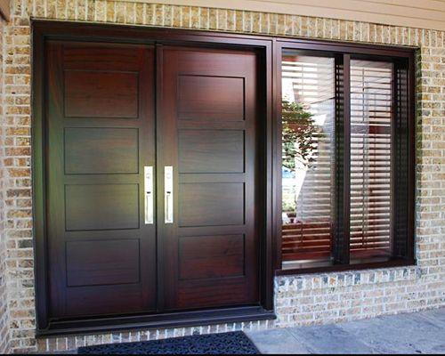 stunning wooden front double door designs contemporary fresh