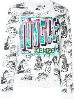 jungle embroidered sweatshirt $372 #farfetch #womensfashion #WomensClothing