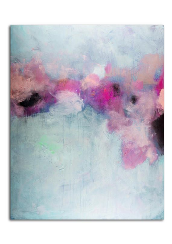 Original abstract painting, modern abstract colorful ...